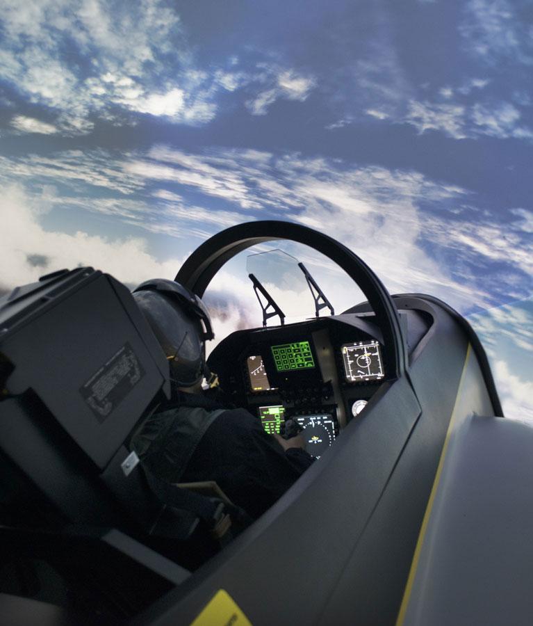 Simulateur Avion de Chasse - Vue embarquée