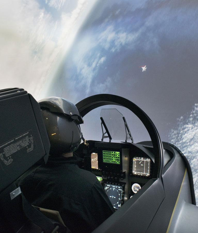 Simulateur Avion de Chasse - ennemi en ligne de mire